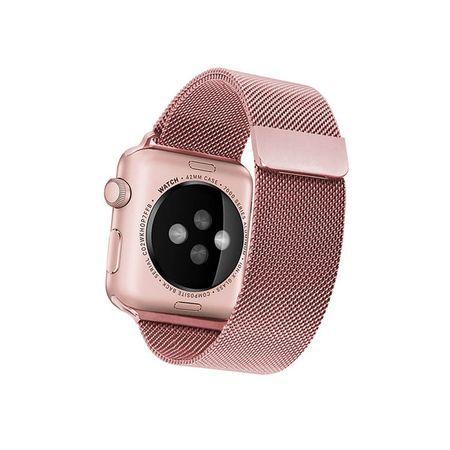 Curea Apple Watch 44mm, Rosegold Milanese Loop