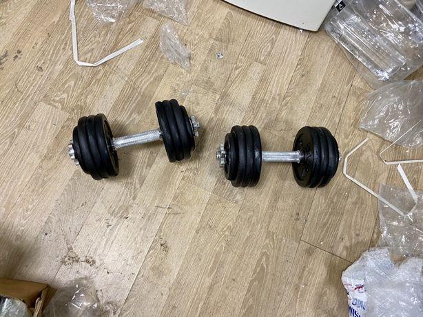 Gantere profesionale reglabile noi 40 kg, 20+20=40 kg noi,pret 700 ron