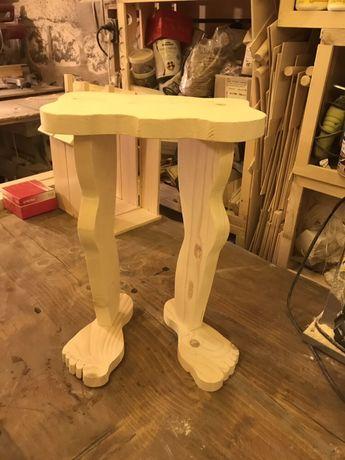 Уникална дървена табуретка от дърво ръчна изработка