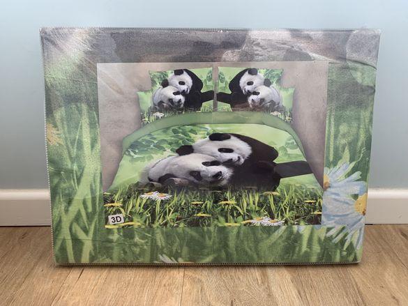 Спален комплет за легло King size с десен панди
