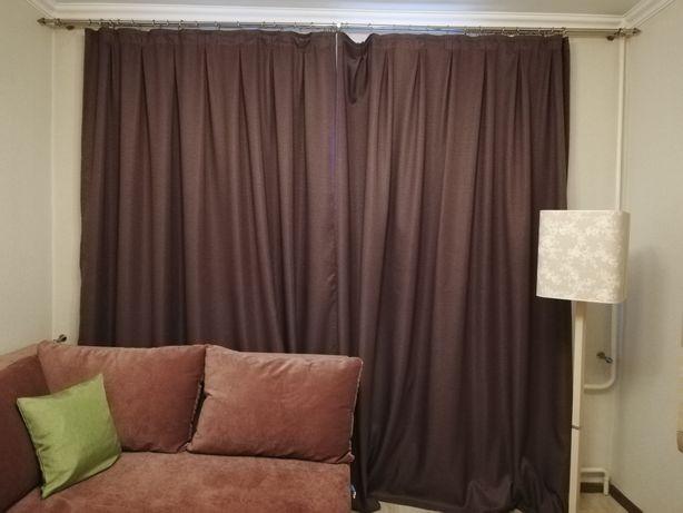 Продам шторы из плотного льна с подкладом.