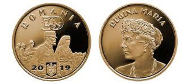 moneda comemorativa 50 bani Desăvârșirea Marii Uniri – Regina Maria