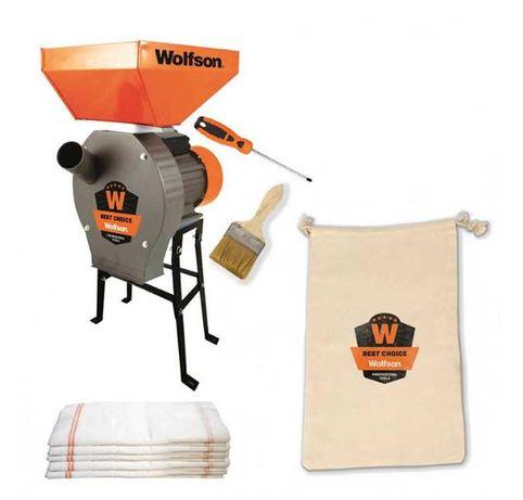 Moara pentru cereale/stiuleti Wolfson, 3900 W, 3000 rpm, 320 kg/h