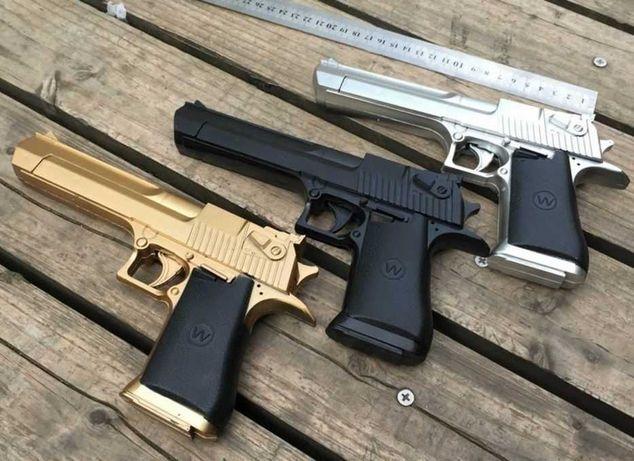 Pistol Airsoft Desert Eagle  4,6J Gold/Silver/Black METAL
