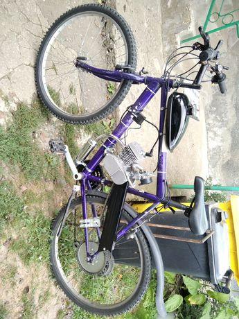 Bicicleta cu motor 80cc NOU