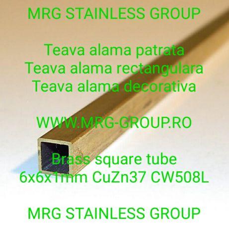 Teava alama patrata 35x35x1.5 rectangulara aluminiu cupru inox rotunda