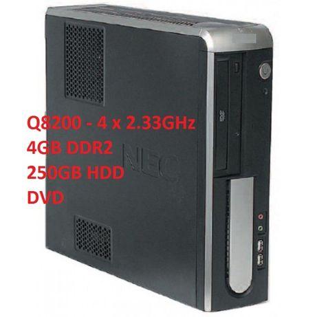 mini PC quad-core 2,33GHz/4gbDDR2/250gbHDD/DVD/video