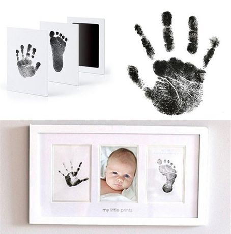 Отпечатък за бебе новородено мастилен за крак ръка безвреден бебешки