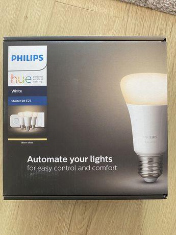 Nou Bec LED Smart PHILIPS Hue E27 Wi-Fi, lumina calda