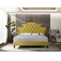 Pat de lux, catifea Velvet auriu, 160x200, REINA