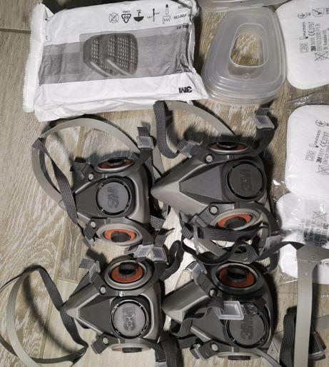 Masca 3M + filtre prefiltre capace + filtre rotunde carbon 2138p3