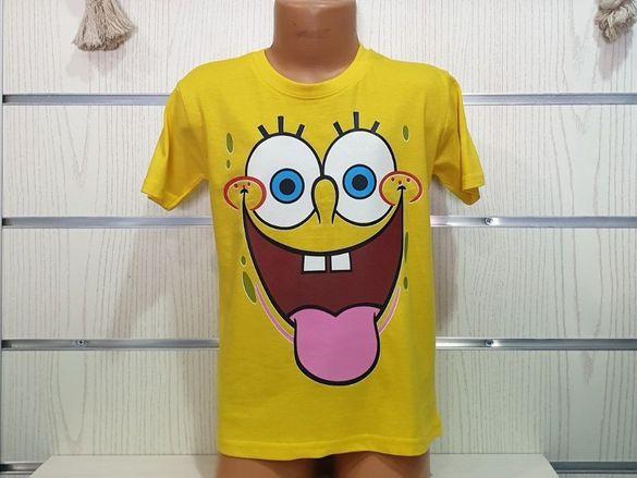 Нова детска тениска с щампа Спондж боб