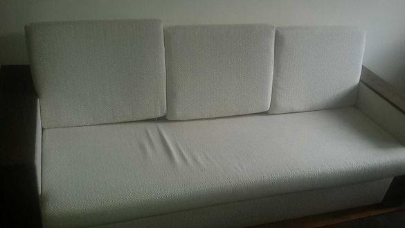 Мека мебел комлект бяла
