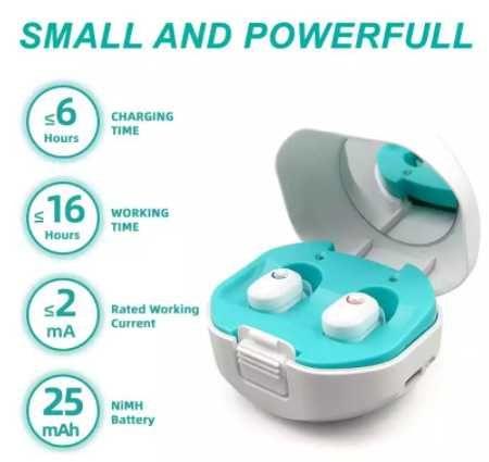 Перезаряжаемый  слуховой аппарат мини-ITC ITE , усилитель звука слуха