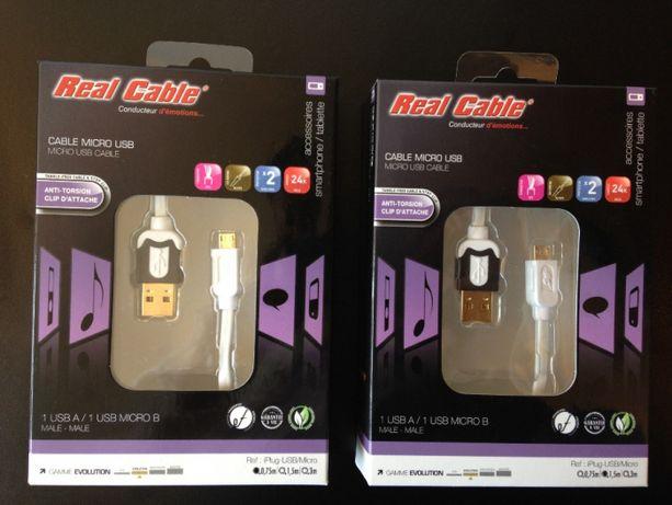Cabluri USB/micro USB Real Cable Evolution 0,75m/1,5m lungime,sigilate