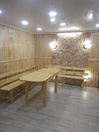 Новая баня на дровах в Заречном