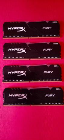 Kingston HyperX Fury RGB 3200 Mhz  4 штуки по 8 Gb