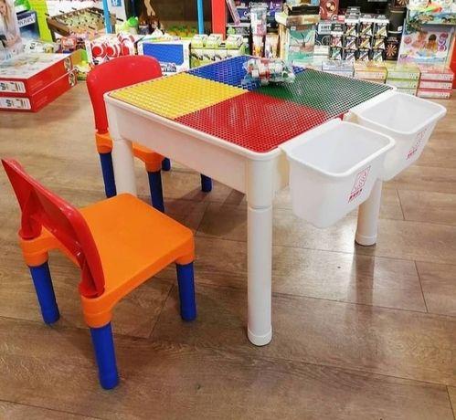 Детский лего стол на двоих