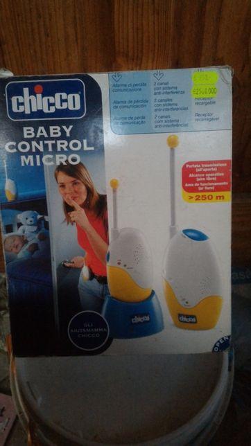 Supraveghere copil, interfon audio portabil Chicco Baby Control Micro,