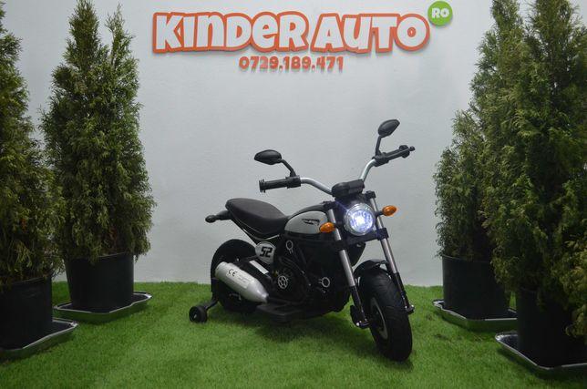 Motocicleta electrica pentru copii QK307 2x30W, roti Gonflabile #Black