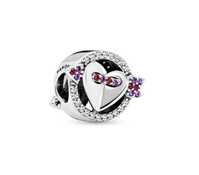 Talisman Pandora Săgeată & Inimă strălucitoare Ardeluta - imagine 1