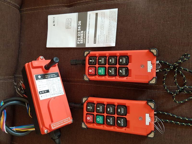 Безжично дистанционно управление за телфер, кран - 220 V, 2 бр. гр. Балчик - image 1