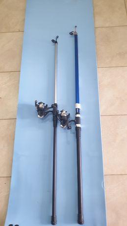 НОВИ!Въдици 2бр- 3м и4м тип болонез с макари 3лаг. комплект