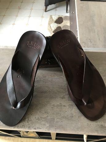 Papuci piele Zeus, impecabili