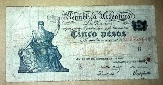 5 pesos 1897 Argentina