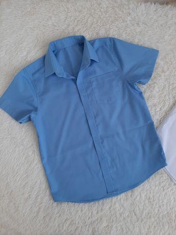 Рубашка с коротким рукавом для школы, 7-8 лет