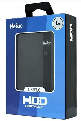Внешний жесткий диск Netac K331 NT05K331N-001T-30BK, 1TB/ USB 3.0/ Bla
