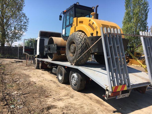 Platforma tractari depanari auto utilaje buldoexcavatoare tractoare