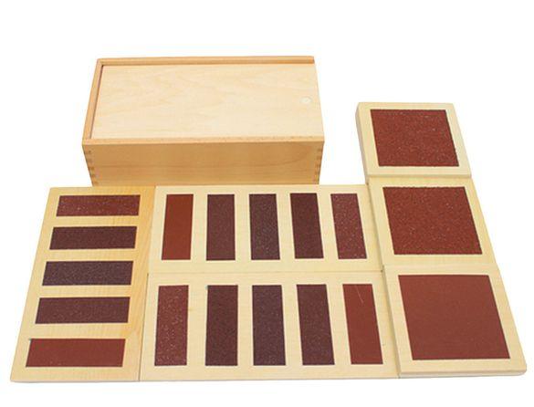 Монтесори кутия за сетивност touch с абразивни повърхности