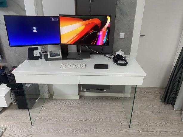 Vand birou modern MDF si picioare de sticla
