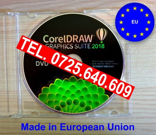 CorelDRAW 2018 FULL Version =DVD SIGILAT-Licenta Permanenta-Made in UE
