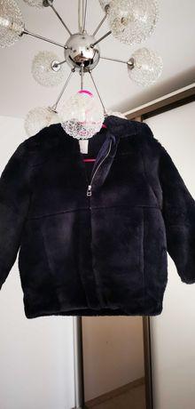 Geaca/haina groasa de blana /palton/Zara/ fetite 7 ani/122 -Noua