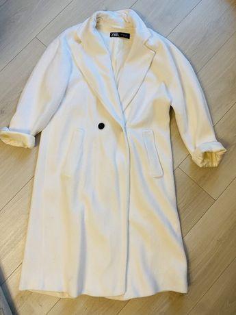 Palton alb oversize zara, s