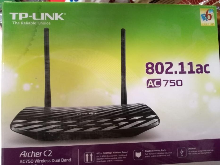 Router Wireless TP-LINK Archer C2, Dual Band, AC750