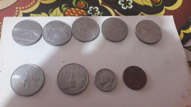 Lot monezi Quarter Dollar