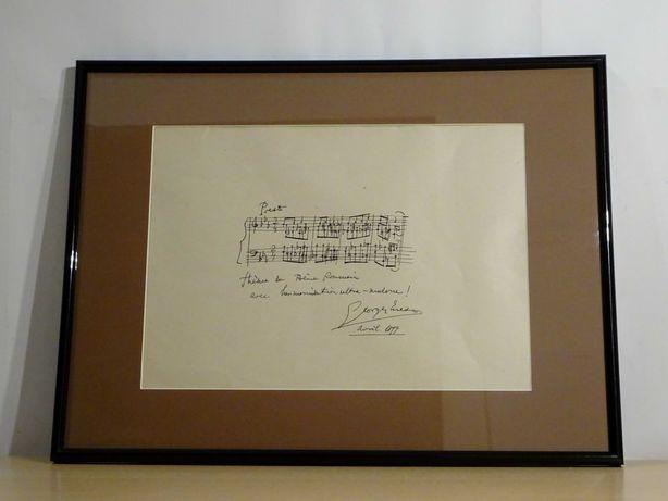 Partitura George Enescu - Rara piesa de colectie