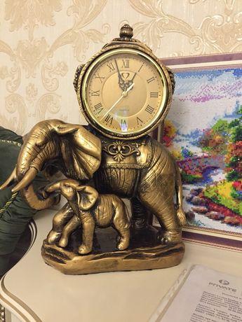 настольные часы слон большие высота 40 см