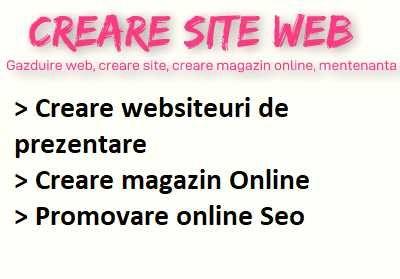 Proiectare Websiteuri / Creare siteuri de prezentare / Magazin online