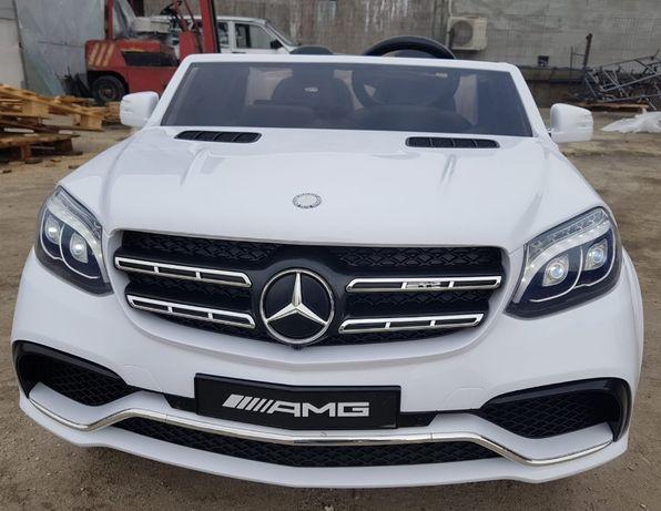 Masinuta electrica pentru 2 copii Mercedes GLS63 AMG 2x4 12V #ALB