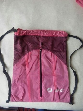 Rucsac cu fermoar din material rezistent,4 bucati,culoarea roz