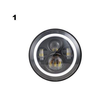 Far LED angel eyes lupa 7inch Nissan Patrol Y60 Pahero Toyota Suzuki