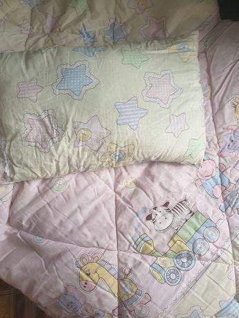 Детсий набор одеяло и подушка