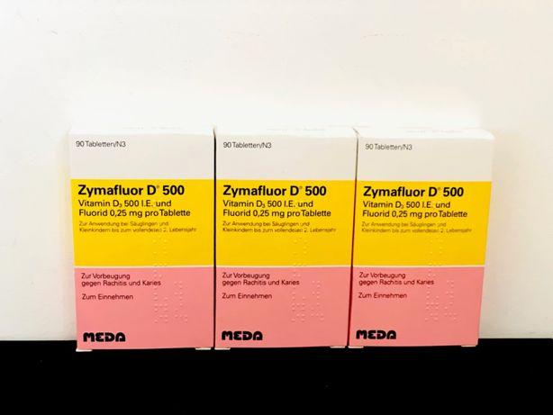 Zymafluor D500 - 0.25 mg fluor si 500 UI vitamina D3 - 90 comprimate