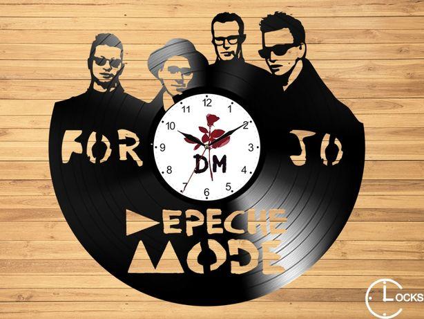 Ceas de perete din lemn Depeche Mode | stil retro muzica colectie