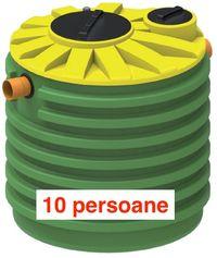 Fosă septică Contessa 2.160 litri 10 Persoane, Transport Gratuit