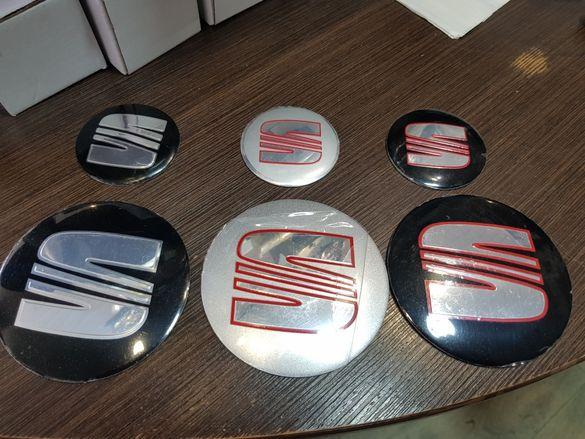Емблема Стикер за капачки на джанти на Сеат